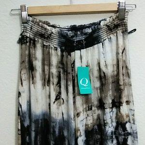 Printed pants with elastic waist band